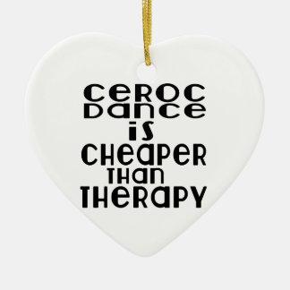 La danse de Ceroc est meilleur marché que la Ornement Cœur En Céramique