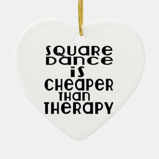 La danse de danse carrée est meilleur marché que ornement cœur en céramique