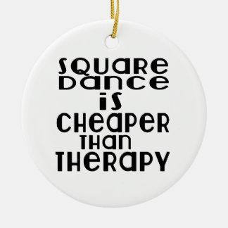 La danse de danse carrée est meilleur marché que ornement rond en céramique