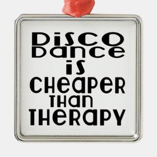 La danse de disco est meilleur marché que la ornement carré argenté