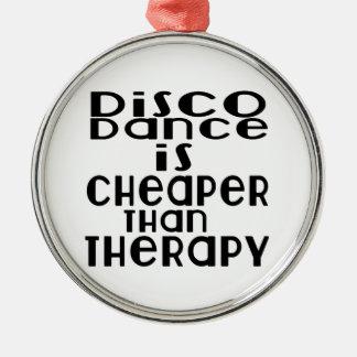 La danse de disco est meilleur marché que la ornement rond argenté