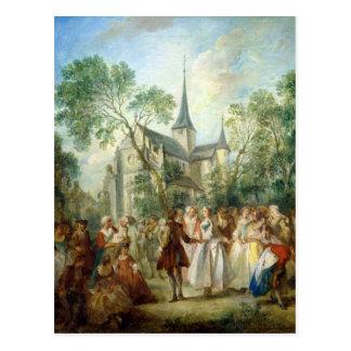 La danse de mariage carte postale