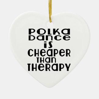 La danse de polka est meilleur marché que la ornement cœur en céramique