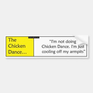 La danse de poulet autocollant de voiture