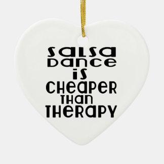 La danse de Salsa est meilleur marché que la Ornement Cœur En Céramique