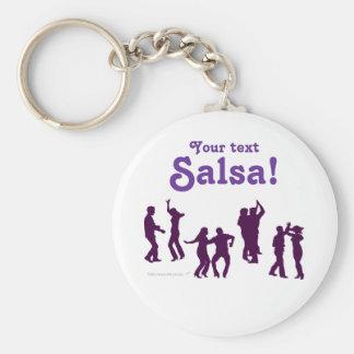La danse de Salsa pose des silhouettes faites sur  Porte-clef