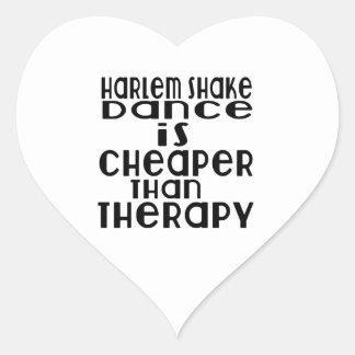 La danse de secousse de Harlem est meilleur marché Sticker Cœur