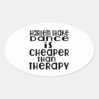 La danse de secousse de Harlem est meilleur marché Sticker Ovale