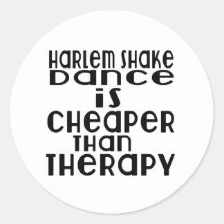 La danse de secousse de Harlem est meilleur marché Sticker Rond