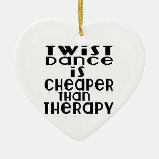 La danse de Twista est meilleur marché que la Ornement Cœur En Céramique