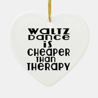 La danse de valse est meilleur marché que la ornement cœur en céramique