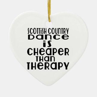La danse écossaise de danse de pays est meilleur ornement cœur en céramique