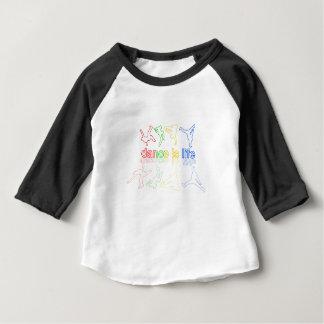 La danse est la vie t-shirt pour bébé