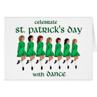La danse irlandaise d'étape célèbre le jour de St Carte De Vœux