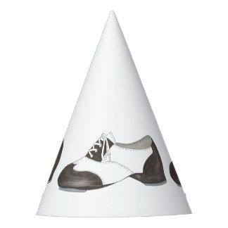 La danse noire et blanche de chaussure de robinet chapeaux de fètes