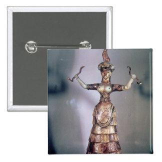 La déesse des serpents badge carré 5 cm
