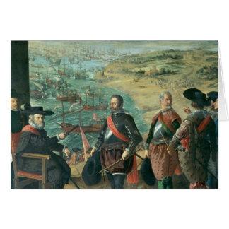 La défense de Cadix contre l'anglais, 1634 Carte De Vœux