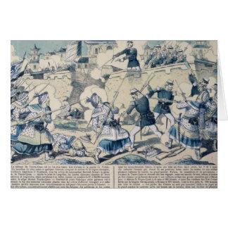 La défense de Tuyen Quang, le 14 février 1885 Carte De Vœux