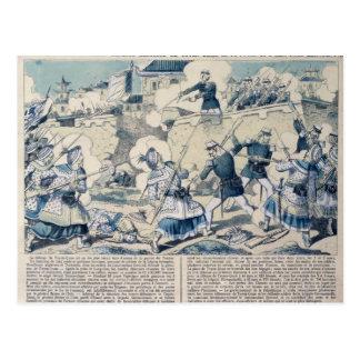 La défense de Tuyen Quang, le 14 février 1885 Carte Postale
