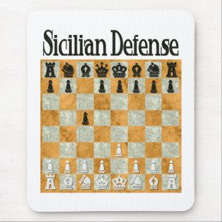 La défense sicilienne tapis de souris
