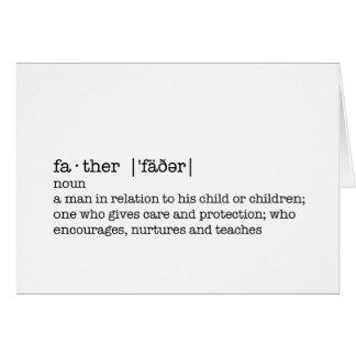 La définition d'un père ; Le meilleur papa au Cartes