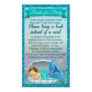 La demande de livre de bébé de sirène insère le carte de visite standard