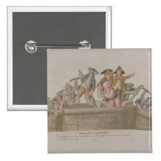 La démolition de la bastille, juillet 1789 badges