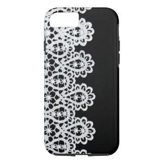 La dentelle blanche forme une frontière sensible coque iPhone 7