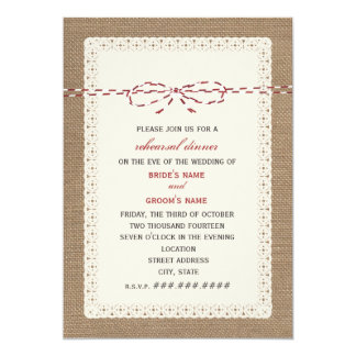 invitations de mariage de toile de jute et de ficelle faire part de mariage de toile de jute et. Black Bedroom Furniture Sets. Home Design Ideas