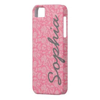 La dentelle fleurie fleurit la caisse nommée faite coque barely there iPhone 5