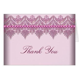 La dentelle rose perle les cartes roses de Merci