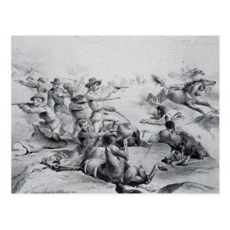 La dernière bataille du Général Custer Carte Postale
