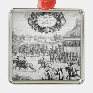 La dernière course de course de cheval ornement carré argenté
