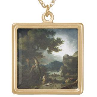 La destruction des enfants de Niobe, 1760 (huile d Collier Plaqué Or