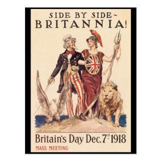 La deuxième guerre mondiale de Britannia Carte Postale
