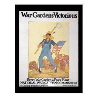 La deuxième guerre mondiale de jardin de guerre carte postale