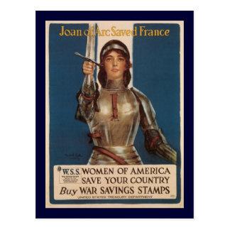 La deuxième guerre mondiale de Jeanne d'Arc Carte Postale