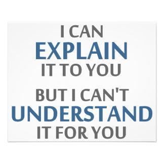 La devise de l'ingénieur ne peut pas le comprendre prospectus 11,4 cm x 14,2 cm