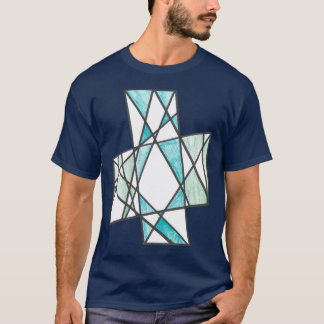 La diagonale croise le T-shirt de motif