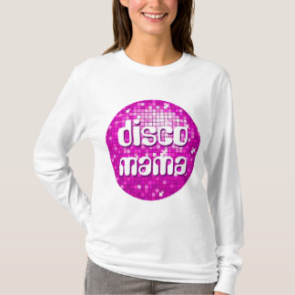 La disco couvre de tuiles douille de dames de t-shirt
