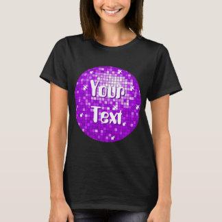 La disco couvre de tuiles le pourpre votre noir de t-shirt