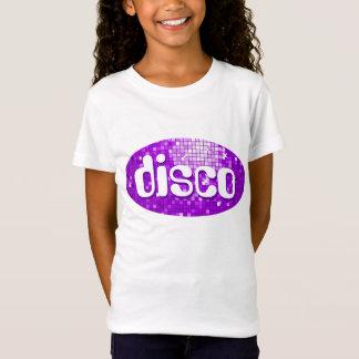 La disco couvre de tuiles les filles pourpres de T-Shirt