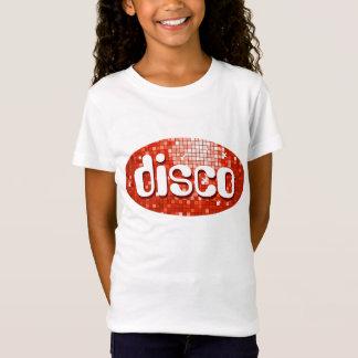 La disco couvre de tuiles les filles rouges de T-Shirt