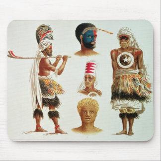 La diverse danse costume usé chez Nakello, Fidji Tapis De Souris