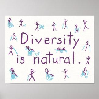 """La """"diversité est"""" chiffre naturel affiche de poster"""
