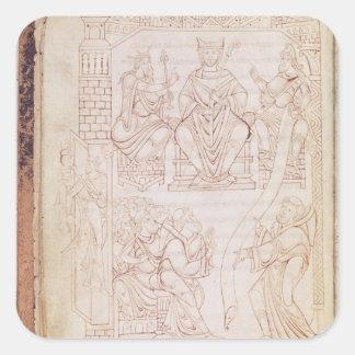 La donation à Richard II Sticker Carré