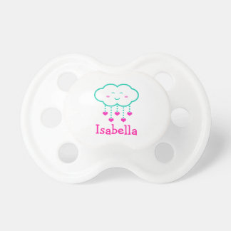 La douche de nuage des coeurs a personnalisé la sucette pour bébé