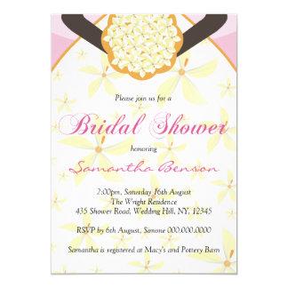 La douche nuptiale faite sur commande de robe de carton d'invitation  12,7 cm x 17,78 cm