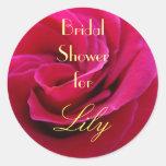 La douche nuptiale pour vos jeunes mariées nommées adhésif rond