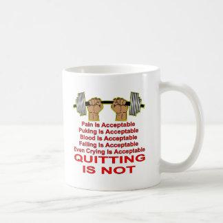 La douleur est abandon acceptable n'est pas mug
